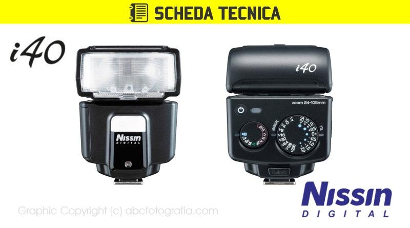 Scheda Tecnica Flash Nissin i40