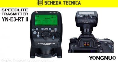 Scheda Tecnica Trigger Yongnuo YN-E3-RT II