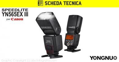 Scheda Tecnica Flash Yongnuo YN565EX III Canon