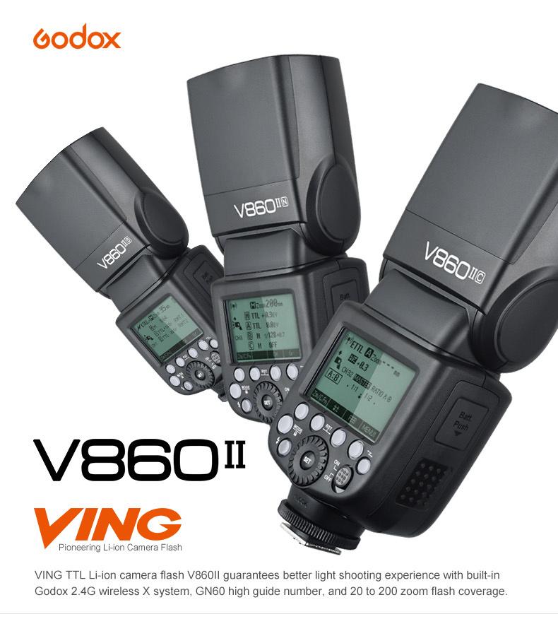 Scheda Tecnica Flash Godox V860II per Canon (V860IIC)
