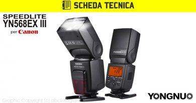 Scheda Tecnica Flash Yongnuo YN568EX III Canon
