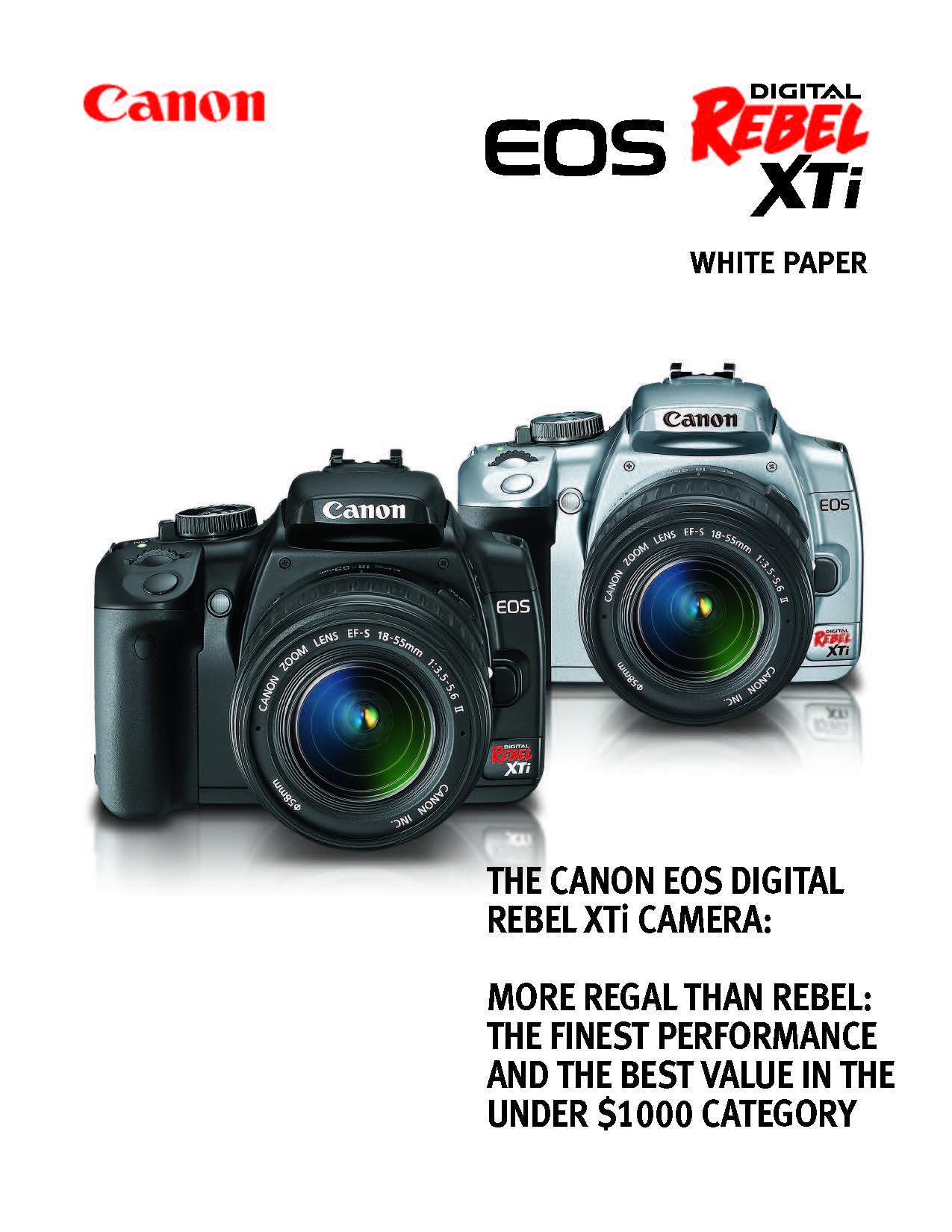 Canon Eos 400D / Rebel XTi White Paper