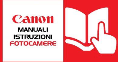 Manuali Istruzioni Fotocamere Canon