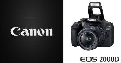Scheda Tecnica Fotocamera Canon EOS 2000D