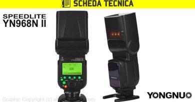 Scheda Tecnica Flash Yongnuo YN968N II